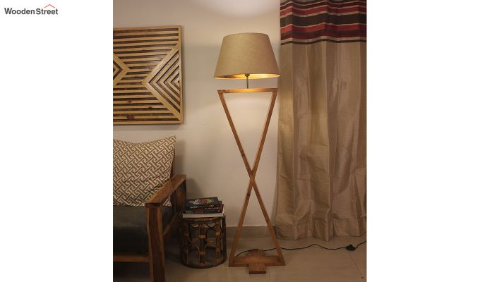 Infinity Brown Wooden Floor Lamp-1