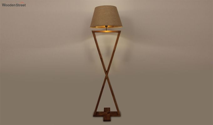 Infinity Brown Wooden Floor Lamp-2