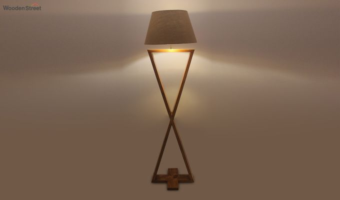 Infinity Brown Wooden Floor Lamp-3