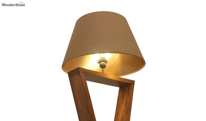 Infinity Brown Wooden Floor Lamp-5