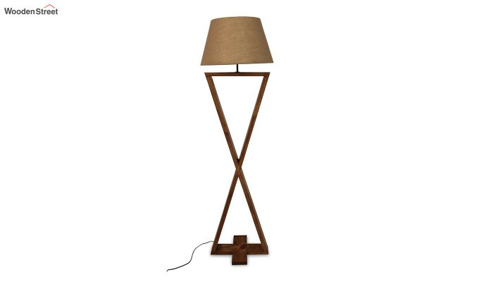 Infinity Brown Wooden Floor Lamp-7
