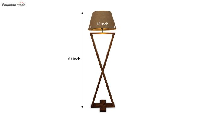 Infinity Brown Wooden Floor Lamp-8