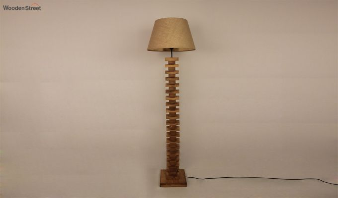 Jenga Brown Wooden Floor Lamp-2