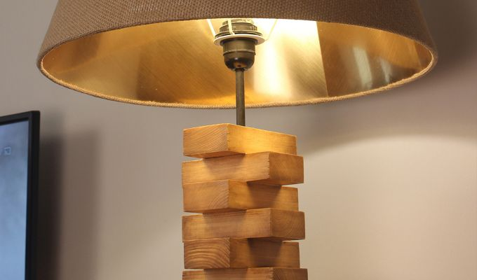 Jenga Brown Wooden Floor Lamp-6