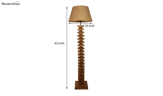Jenga Brown Wooden Floor Lamp-7