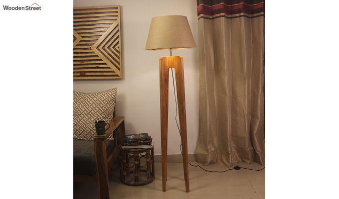 Jet Brown Wooden Floor Lamp-1