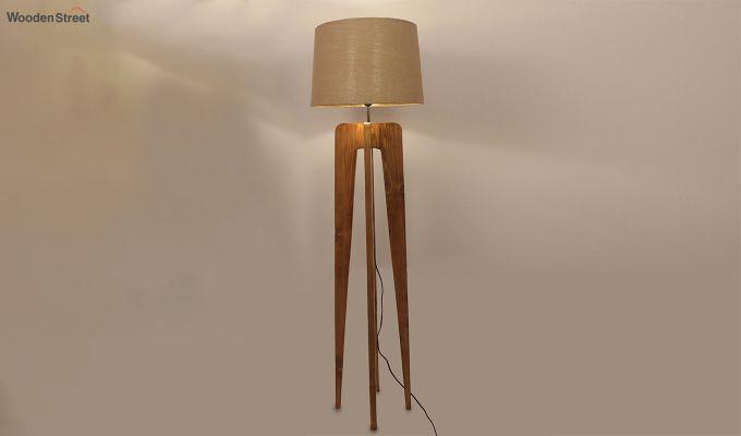 Jet Brown Wooden Floor Lamp-2