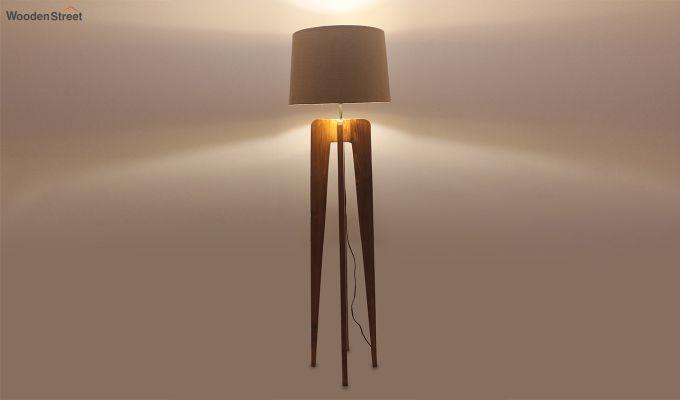 Jet Brown Wooden Floor Lamp-3