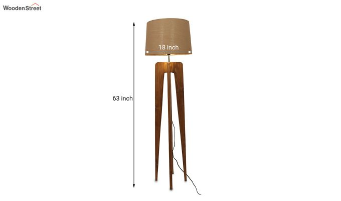 Jet Brown Wooden Floor Lamp-6
