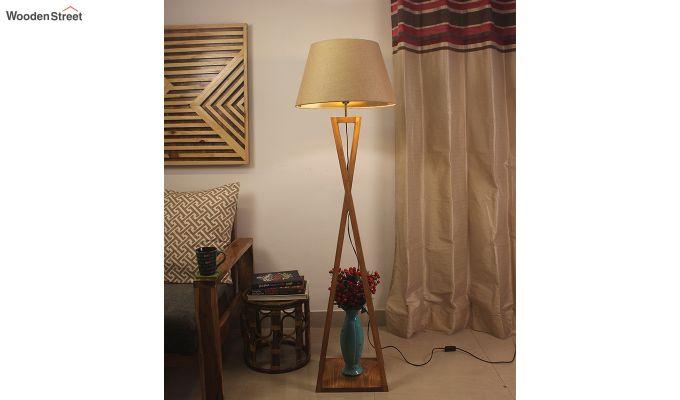 Monica Brown Wooden Floor Lamp-1
