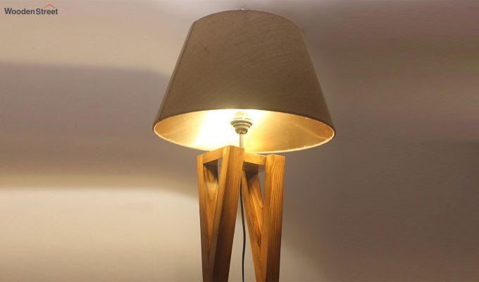 Monica Brown Wooden Floor Lamp-4