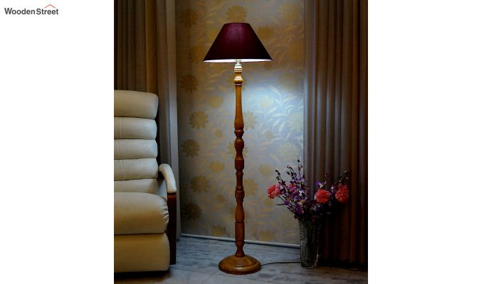 Oris Maroon Floor Lamp-1
