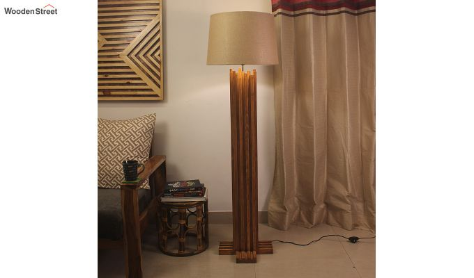 Palisade Brown Wooden Floor Lamp-1