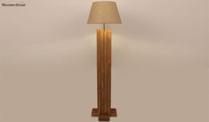 Palisade Brown Wooden Floor Lamp-2