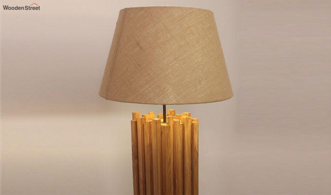 Palisade Brown Wooden Floor Lamp-3