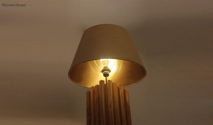 Palisade Brown Wooden Floor Lamp-4