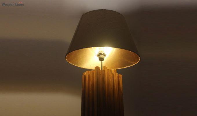 Palisade Brown Wooden Floor Lamp-5