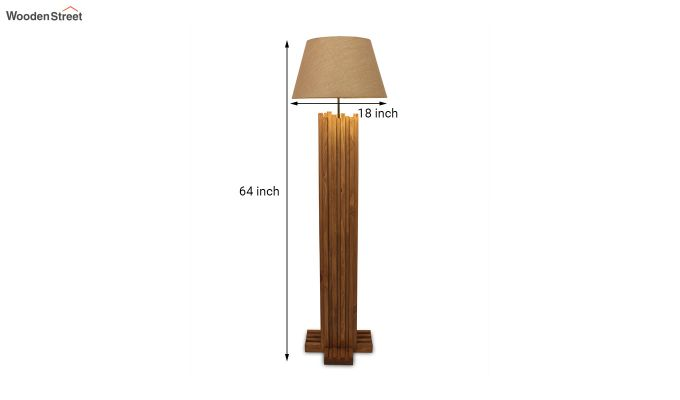 Palisade Brown Wooden Floor Lamp-8