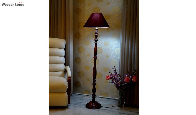 Polaris Maroon Floor Lamp-1