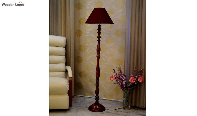 Polaris Maroon Floor Lamp-2