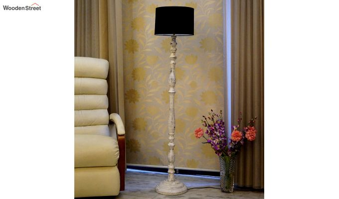 Polaris Distressed Black Floor Lamp-2