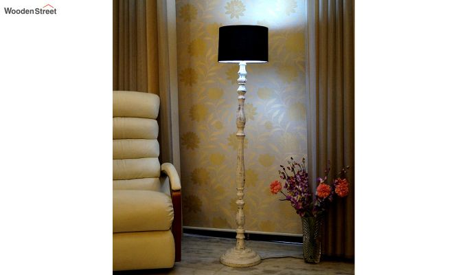 Polaris Distressed Black Floor Lamp-1