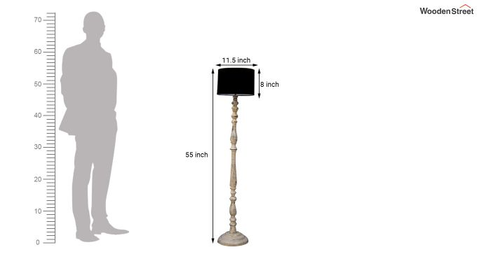 Polaris Distressed Black Floor Lamp-4