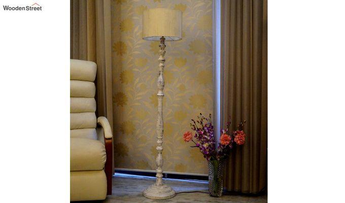 Polaris Distressed Cream Floor Lamp-1