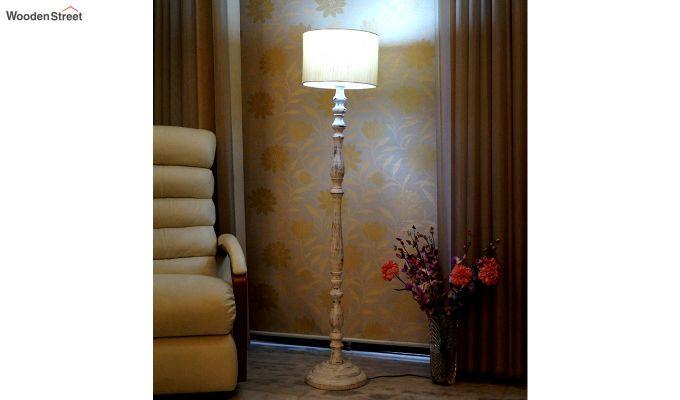 Polaris Distressed Cream Floor Lamp-2