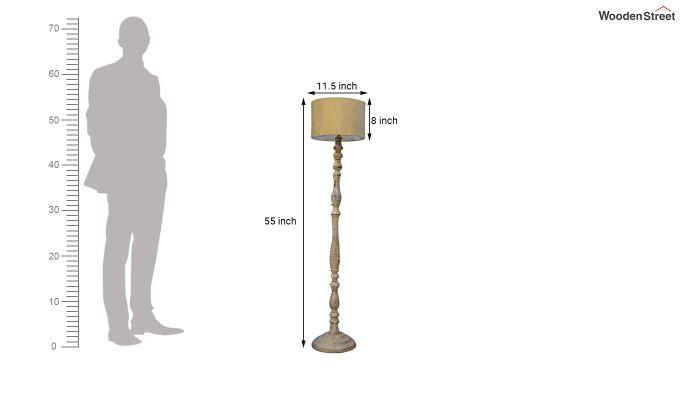 Polaris Distressed Cream Floor Lamp-4