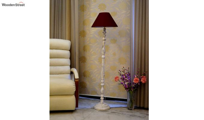 Polaris Distressed Maroon Floor Lamp-2
