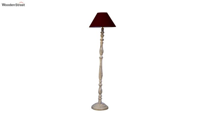 Polaris Distressed Maroon Floor Lamp-3