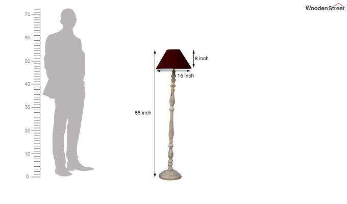 Polaris Distressed Maroon Floor Lamp-4