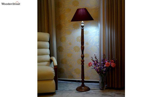 Polecat Maroon Floor Lamp-1