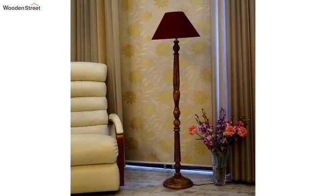 Polecat Maroon Floor Lamp-2