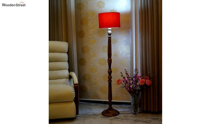 Polecat Red Floor Lamp-1