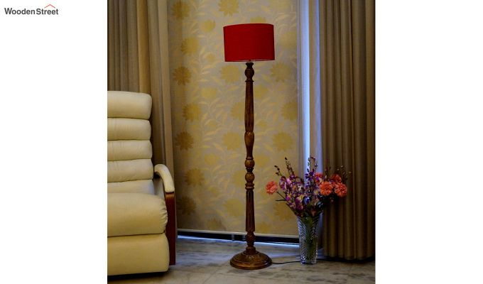 Polecat Red Floor Lamp-2