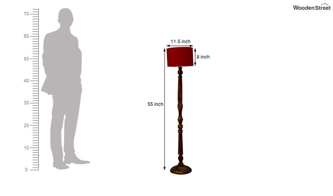 Polecat Red Floor Lamp-4