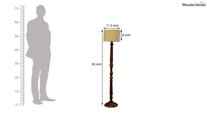 Polecat Cream Floor Lamp-4