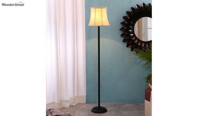 Rodney Brushed Bells Cotton Floor Lamp-1