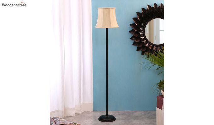 Rodney Brushed Bells Cotton Floor Lamp-2