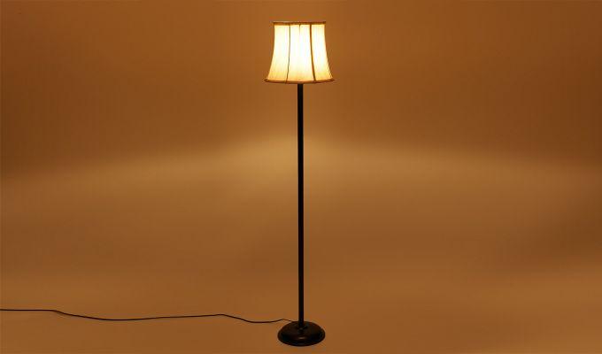 Rodney Brushed Bells Cotton Floor Lamp-3