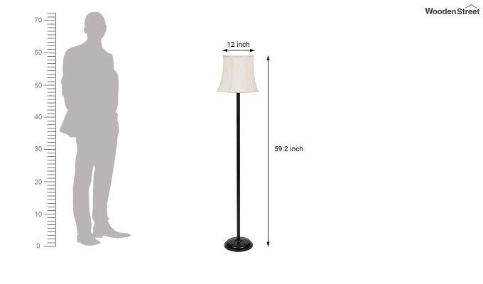 Rodney Brushed Bells Cotton Floor Lamp-7