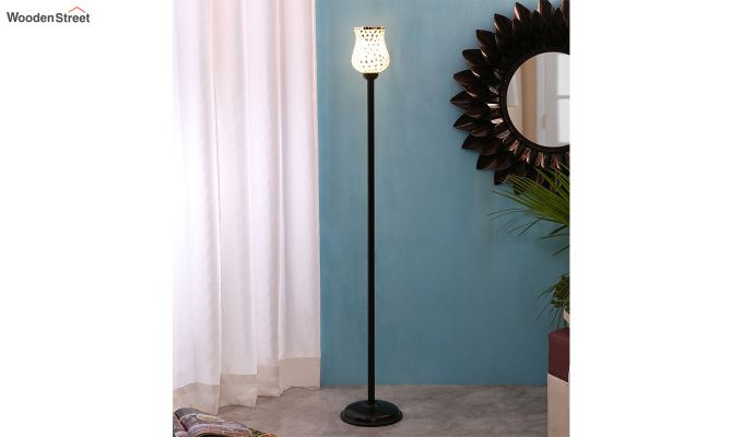 Rodney Geo Glass Floor Lamp-1