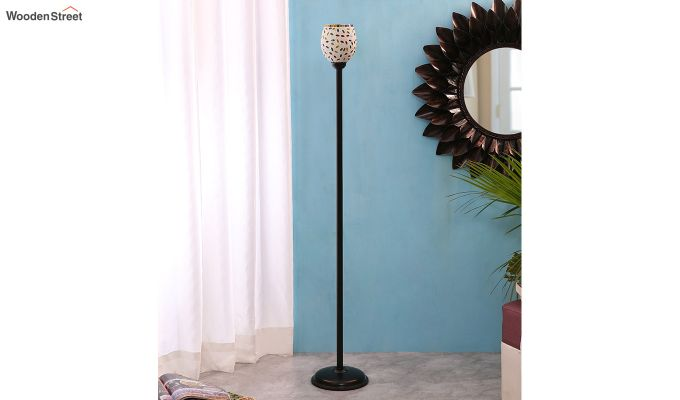 Rodney Stained Beans Glass Floor Lamp-2