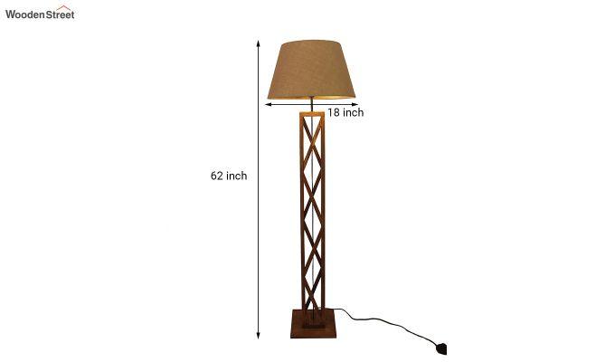Symmetric Brown Wooden Floor Lamp-6