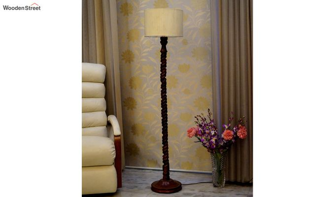 Tendril Cream Floor Lamp-2
