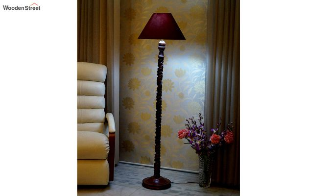 Tendril Maroon Floor Lamp-1