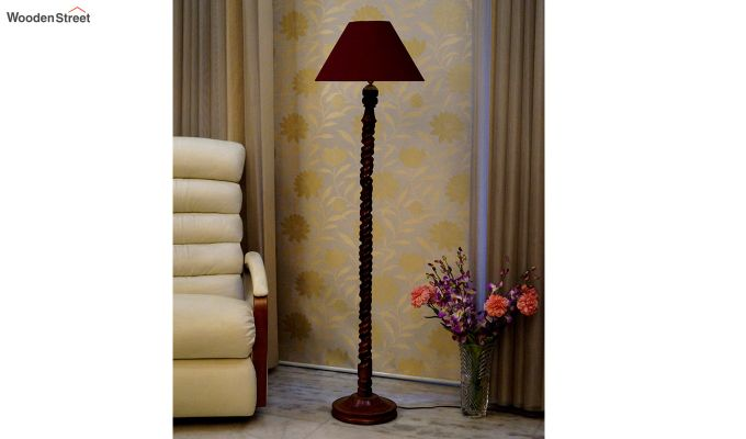 Tendril Maroon Floor Lamp-2