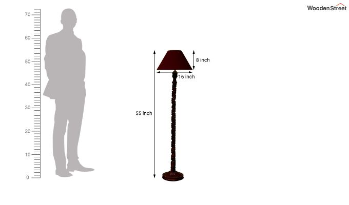 Tendril Maroon Floor Lamp-4